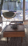 Mid-Century Modern Coffee Table with Magazine Rack