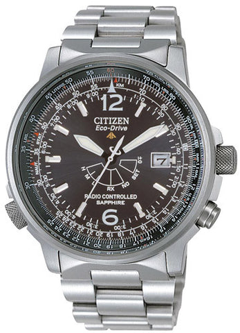 OROLOGIO Citizen AS2031-57E Pilot RadioControllato TITANIO, quadrante nero