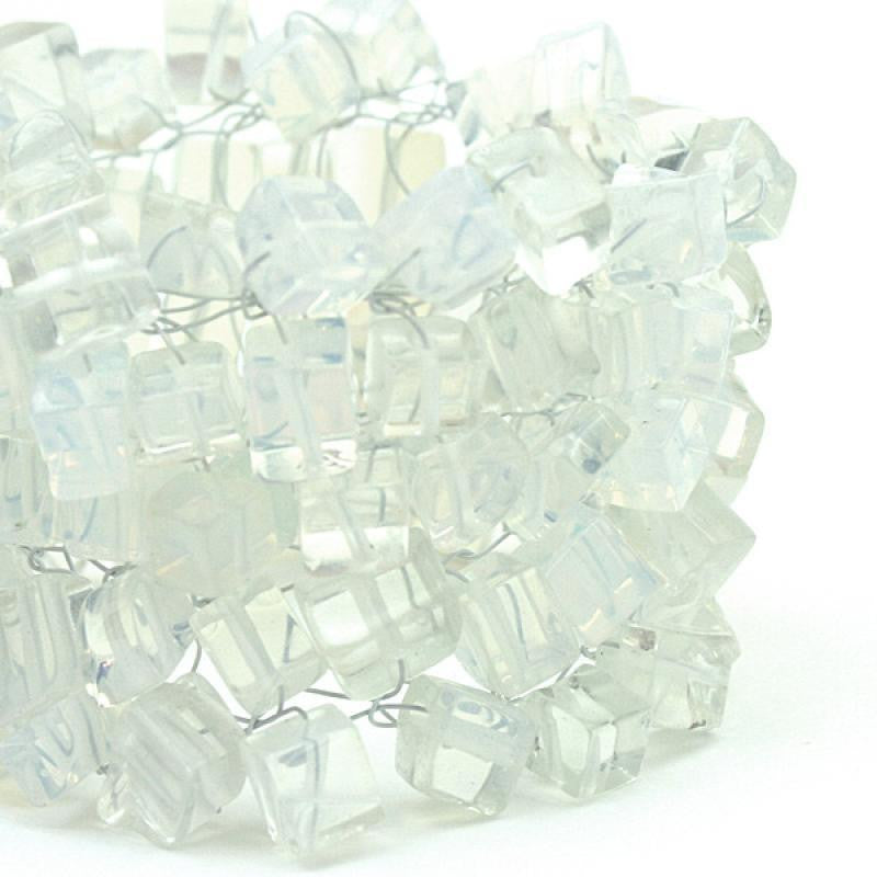 """white"" is made of opalite chips"
