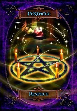 pentacle respect card