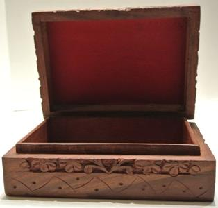 tree of life wooden box inside