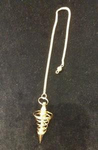 Pendulum - Spiral or Drop Style - Brass, Chrome or Copper