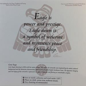 "Embroidery Iron On Patch - Eagle - 7.75"" Square - Gene Suyu"