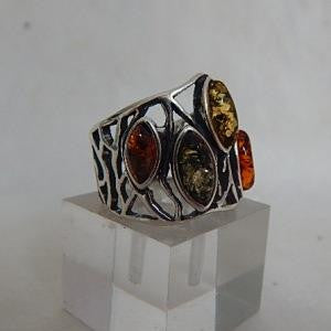 Side view of Amber ring