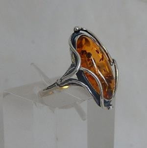 Right Side View of Amber Ring