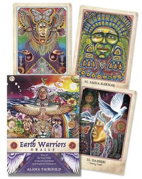 Sample of cards/artwork of Earth Warriors Oracle