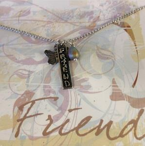 Close up of Friend Necklace