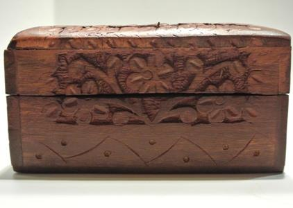 tree of life wooden box side view