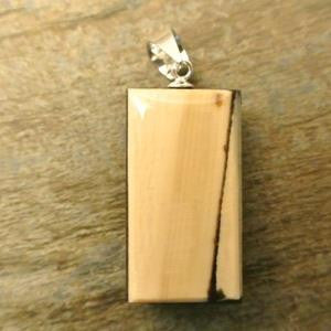 mammoth ivory impressions double-sided lyuba pendant