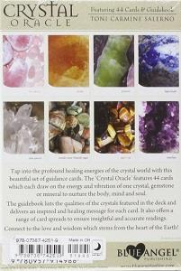 The Crystal Oracle Cards back of box
