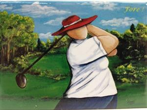 kathy meaney magnet - fore!