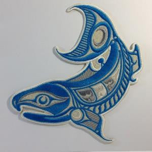 Embroidery Iron On Patch - Power Salmon - Gene Suyu