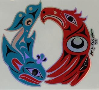 Sticker - Killer Whale and Eagle - Douglas Lafortune