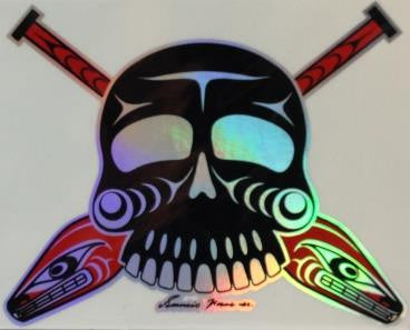 Sticker - Skulls and Paddles - Francis Horne Sr.