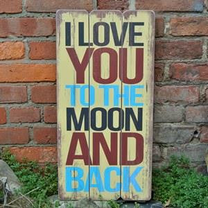 "sign - i love you to the moon and back - 12""X23"""