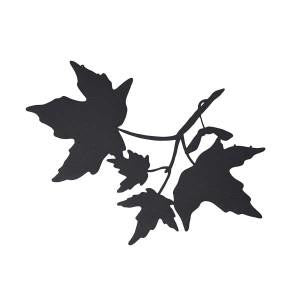 maple leaf wall decor - black