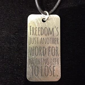 Stainless steel Freedom necklace by Gestalt