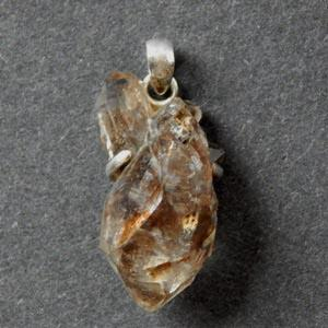 Pyrite and Quartz Crystal Pendant