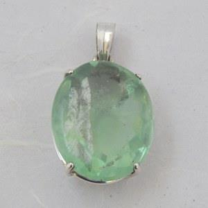 Green Fluorite Pendant set in sterling silver