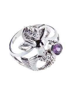 Ring - Mermaid with Amethyst - Sterling Silver