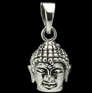 pendant - buddha head - 13mm