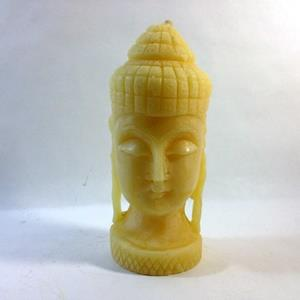 "Buddha Head Beeswax 6"" Tall"