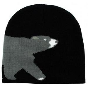 Black acrylic toque with bear