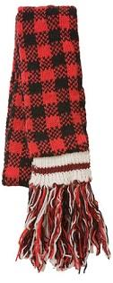 Black and Red Plaid Checkered Scarf