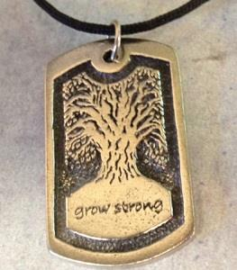 Grow Strong tree necklace