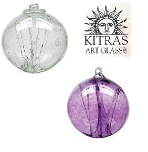 Kitras Art Glass Olde English Witch Balls - 12 Colours - 6 inch