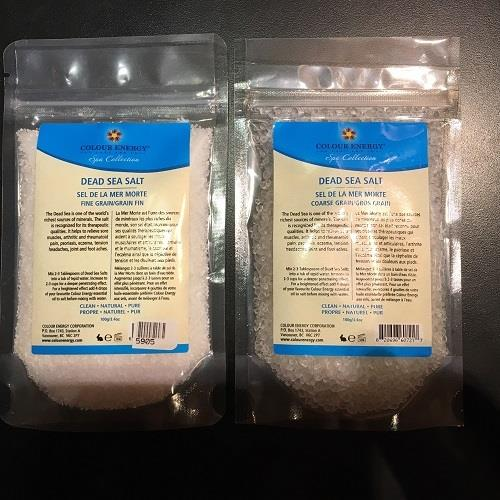 Colour Energy Dead Sea Salt 100g package