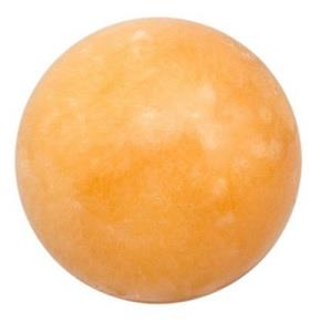 "Orange Calcite Sphere 2"" diameter"