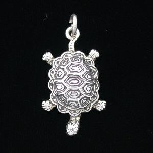 Pendant - Turtle - Sterling Silver