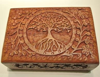 tree of life wooden box top view