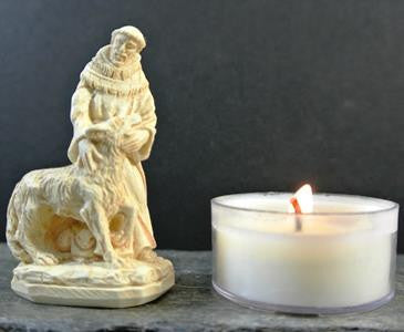 western mysteries statue - st. francis and the wolf - 2""