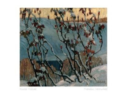 "Canadian Art Prints Art Card of Group of Seven's Franklin Carmichael painting ""WInter Hillside"""