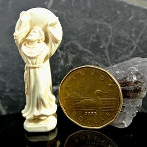 Western Mysteries Statue - St. Francis Dancing Pocket Blessing - 1.75""