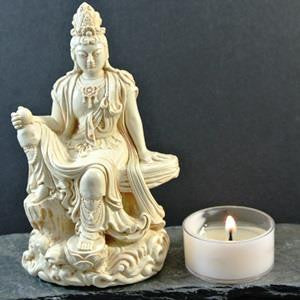 Kuanyin Statue - Royal Ease - 4.5""