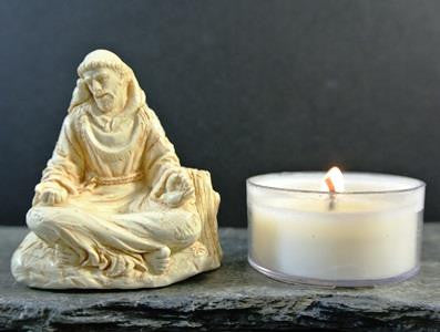 western mysteries statue - st. francis meditating - 2""