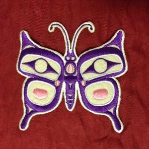 Embroidery Iron On Patch - Butterfly - Corey Bulpitt