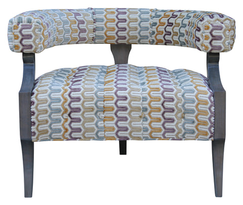 modern custom curved barrel chair contemporary