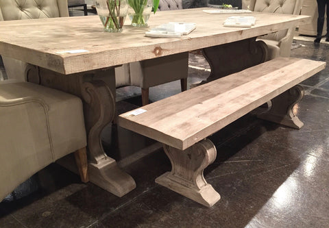 Custom Reclaimed Wood Dining Benches & Tables made in los ...