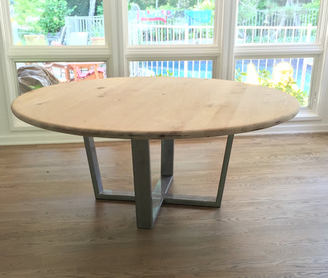 Custom round dining tables mid century modern spanish for Non wood dining table