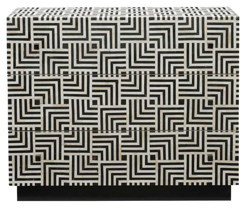 black and white bone inlay modern small dresser hall piece