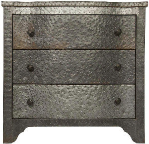 Jenny Hammered Zinc nightstand