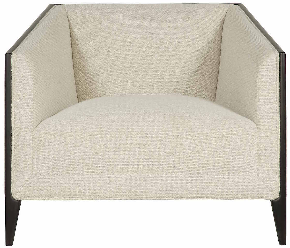 modern mid century cream upholstered wood frame accent chair