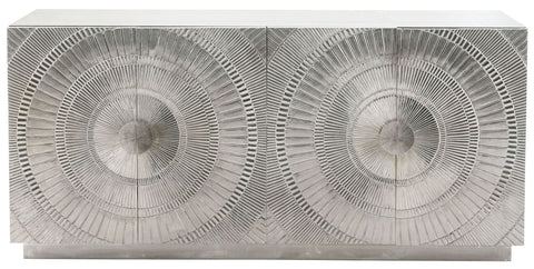 Barbra, Embossed Silver Media Console