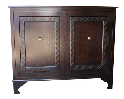 Mahogany Wood Classic Two Door Chest