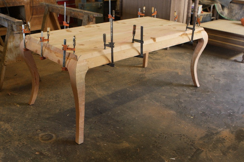 ... Cabriole Leg Dining Table With Glazed Lacquer Finish Custom Wood Shop  Assembling Dining Tables