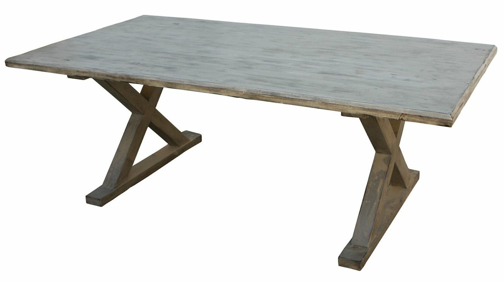 Classic Country X Base Dining Table